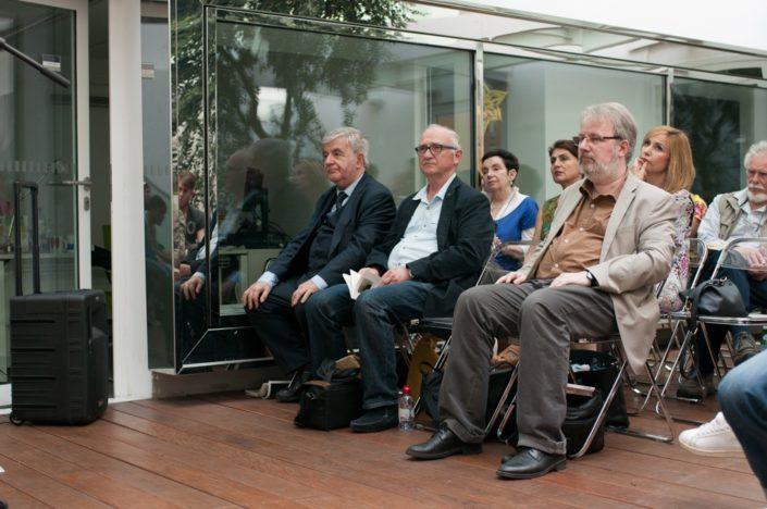 au 1er rang, Jean-Marc Muller, André Prodhomme et Eric Dubois, au 2ème rang, Nicole Simonet, Dominique Pince-Salem, Louisa Nadour et Michel Séguignes