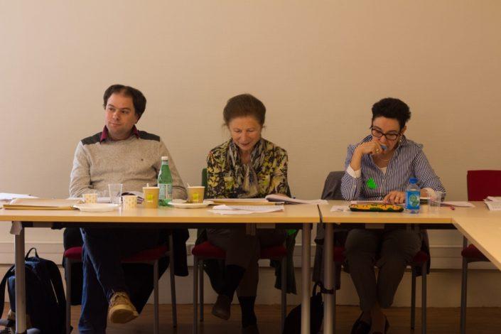 Matthias Vincenot, Colette Nys-Mazure et Nicole Simonet