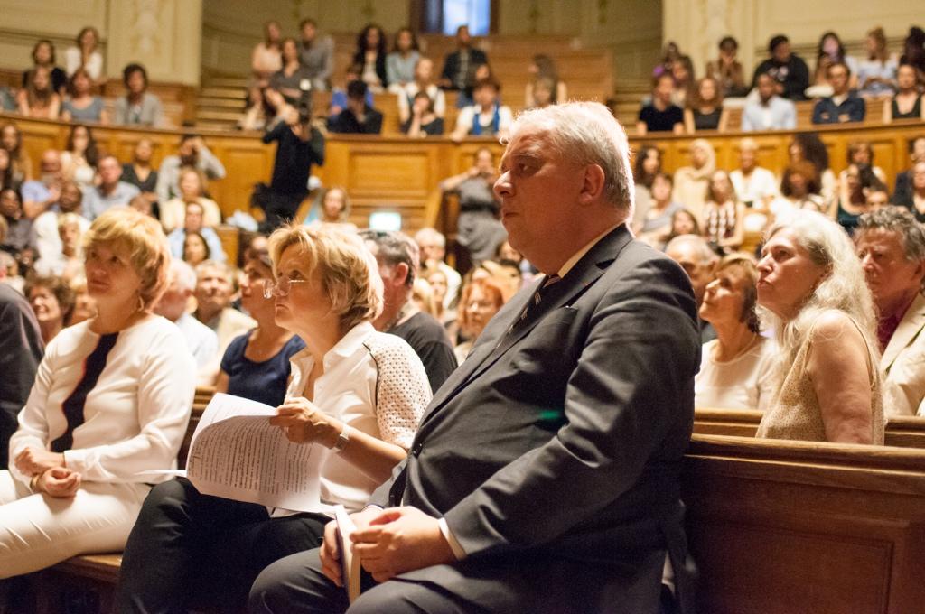 Marie-Laure Coquelet, Vice-Chancelière des Universités de Paris, Florence Berthout, Maire du Vème et Barthélémy Jobert, Président de l'Université
