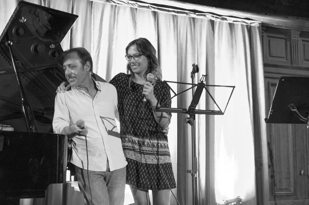 Père et fille les comédiens Antoine et Dounia Coesens