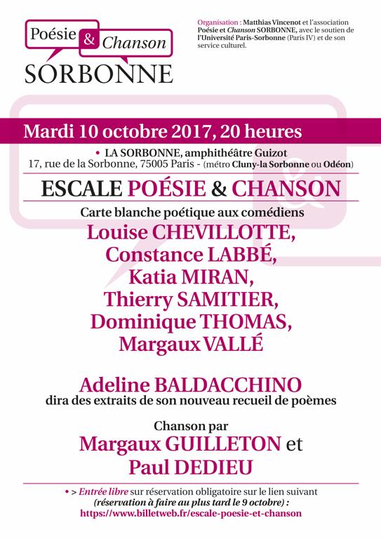 Poésie & Chanson Sorbonne
