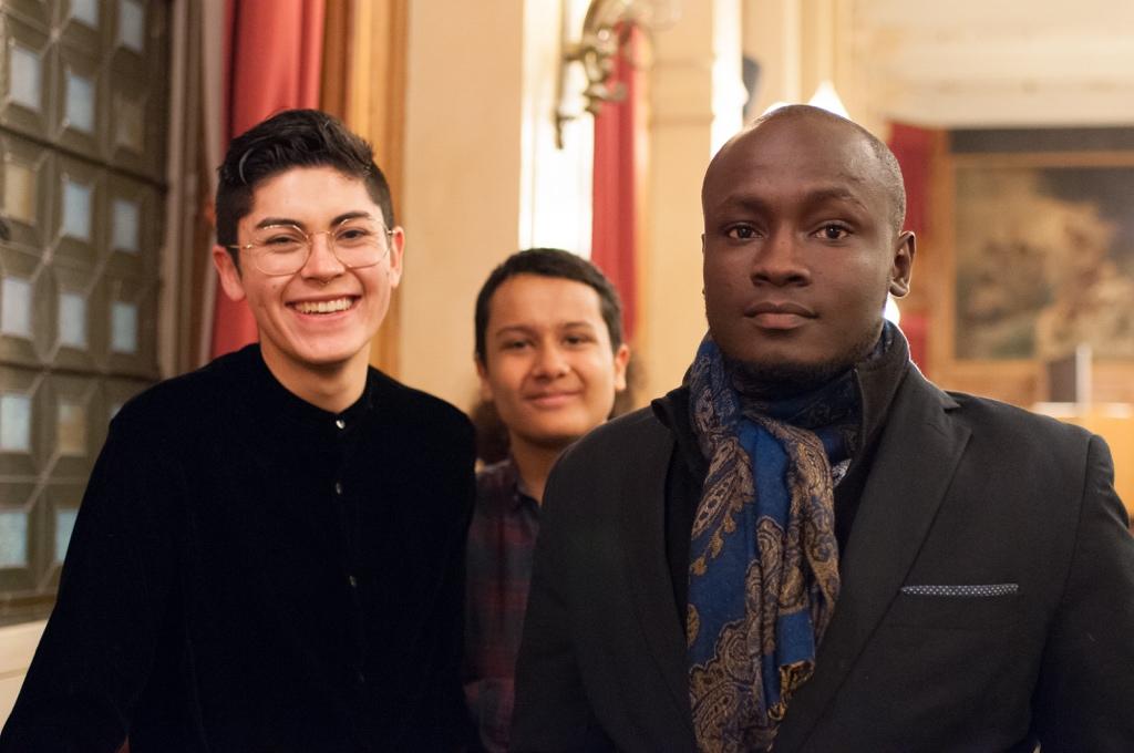 les jurés 2017 Ignacio Guzman de Brest (29) et Valentin Kanganagedara IDF (91) et le lauréat 2016 Carl Withsler A. Benoit de Gonaïves (Haïti)