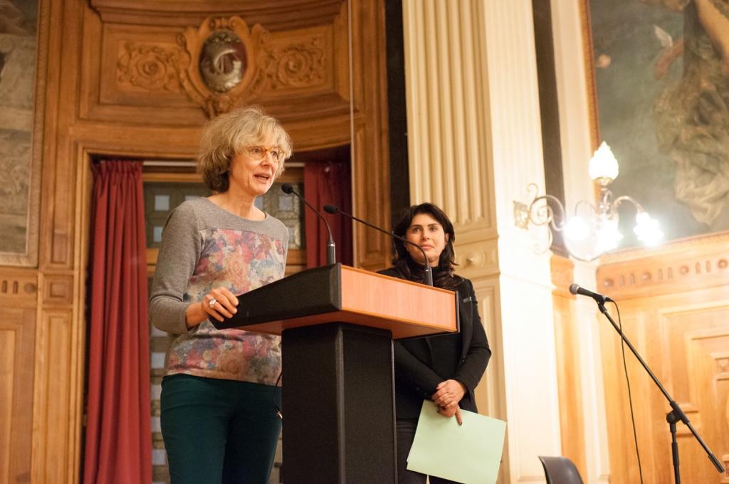 Marie-Carole Ciuntu, Vice-Présidente chargée des lycées au Conseil Régional d'Île-de-France et Manon Laporte