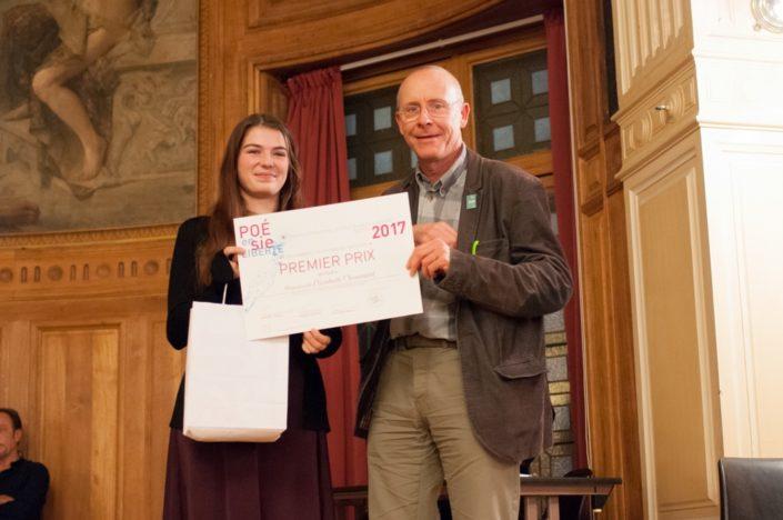Elizabeth Chouinard, 1er prix, École d'éducation internationale de Mcmasterville - Mcmasterville (Canada) et Didier Janot, Esperanto-France