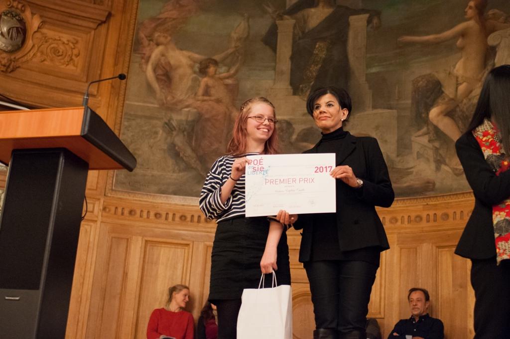 Sophie Guth, 1er prix, Université de Strasbourg (67) et Hassina Hadj Larbi, Déléguée du Préfet de Paris