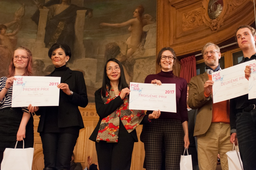 Sophie Guth, Université de Strasbourg (67) et Hassina Hadj Larbi, Déléguée du Préfet de Paris, Eliane Kan de TCA et Amandine Girard ENSAPLV de Paris, Erick Haehnsen d'INNOV24 et Martin Boillat, ENIM à Metz (57)