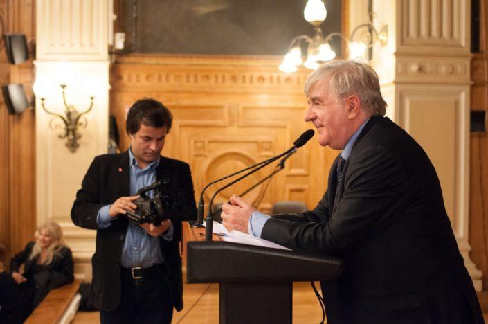 Binod Khakurel, Président de l'association France Népal et Jean-Marc Muller, Président