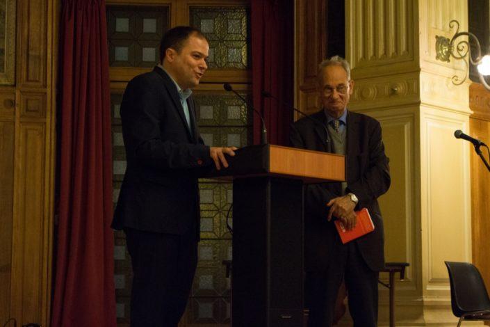 Matthias Vincenot et Pierre Brunel, Président d'honneur