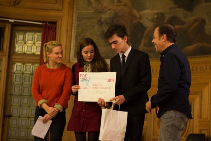 Umut Mert Karacaoğlu, Prix du LabelFrancEducation, Lycée Sainte Pulchérie à Istanbul (Turquie) avec Yeelem Jappain, Lou Gala et Antoine Coesens