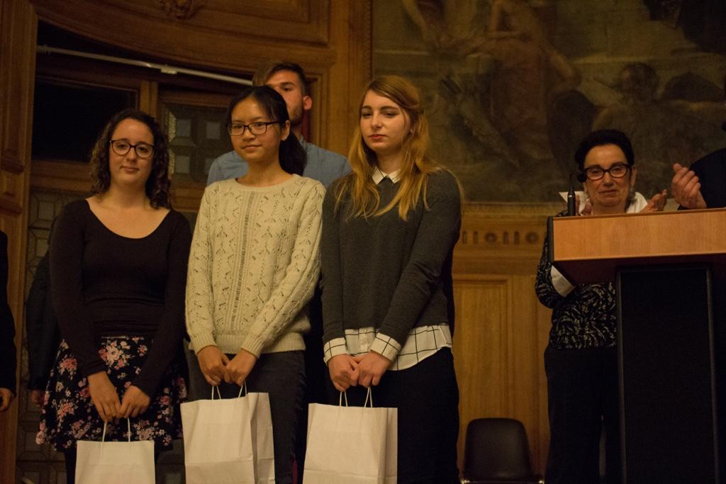 les sélectionnés : Justine Dorizon, Minh Anh Nguyen, Chloé François