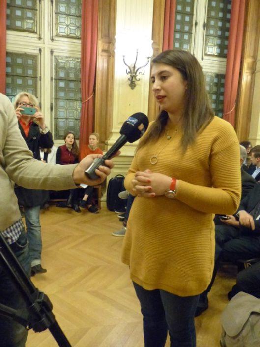 Kattia Galou, lauréate représentant l'Université Abderrahmane Mira de Béjaïa - Algérie, meilleure participation du Maghreb