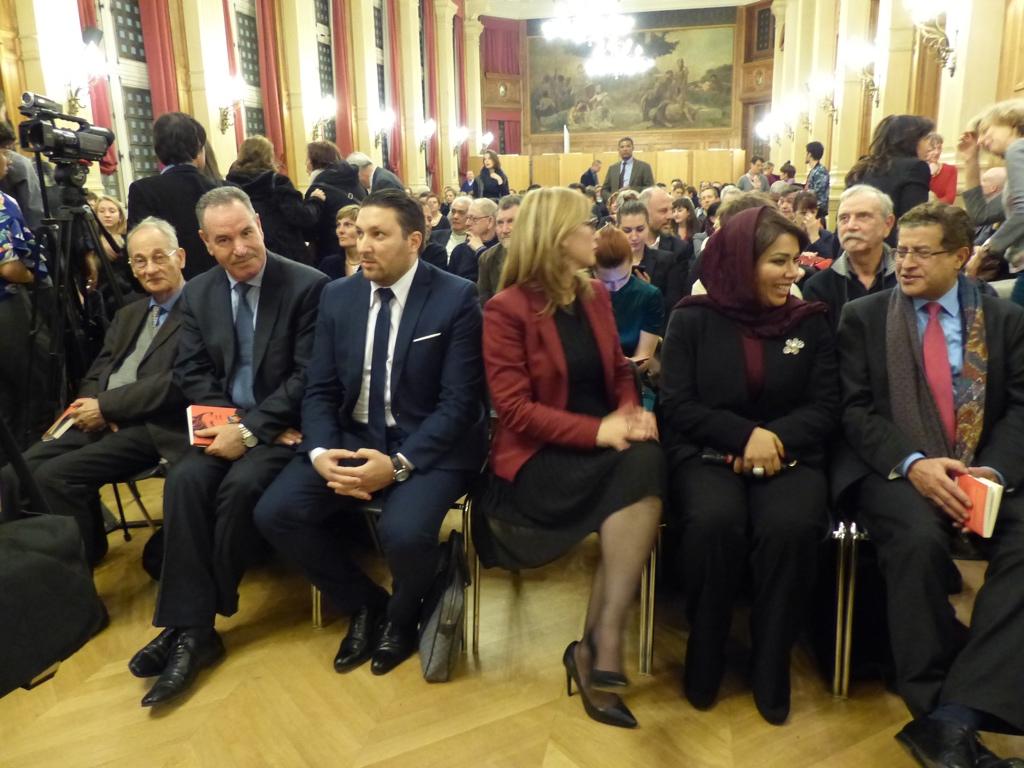 Pierre Brunel, les délégations de l'Algérie et du Sultanat d'Oman, Mojeb Al-Zahrani