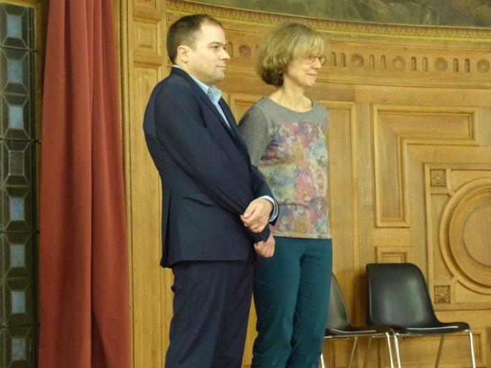 Matthias Vincenot et Marie-Carole Ciuntu, Vice-Présidente chargée des lycées au Conseil Régional d'Île-de-France