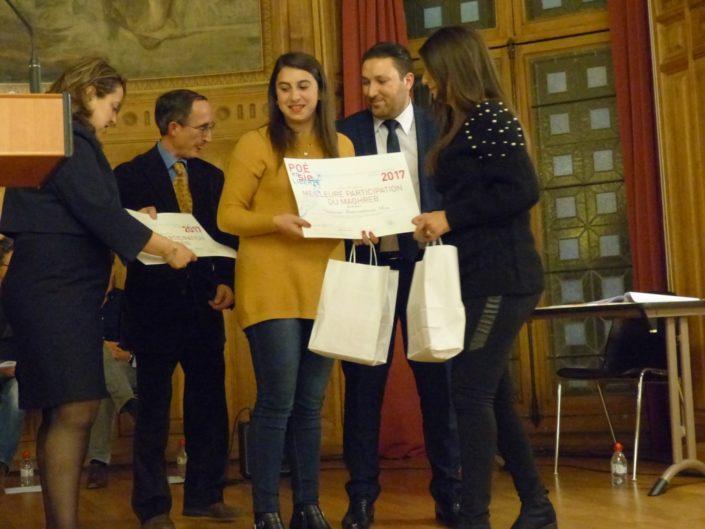 Kattia Galou, enseignante et Mohamed Khaled, Premier secrétaire de l'Ambassade d'Algérie en France
