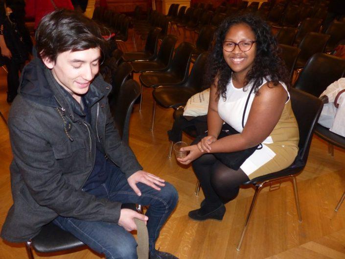 Anjatiana Rabehevitra, lauréate 2010 et et Florian Kuan 7 ans plus tard