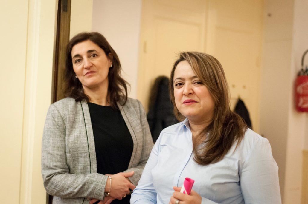 Dalila Kaabeche, Secrétaire générale adjointe et Lynda Aït Bachir, Correspondante pour le Maghreb