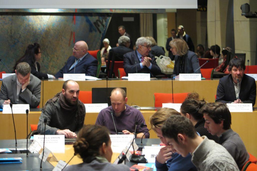 en tête-à-tête Claire Guichard et André Santini, Jean-Marc Muller et Geneviève Avenard