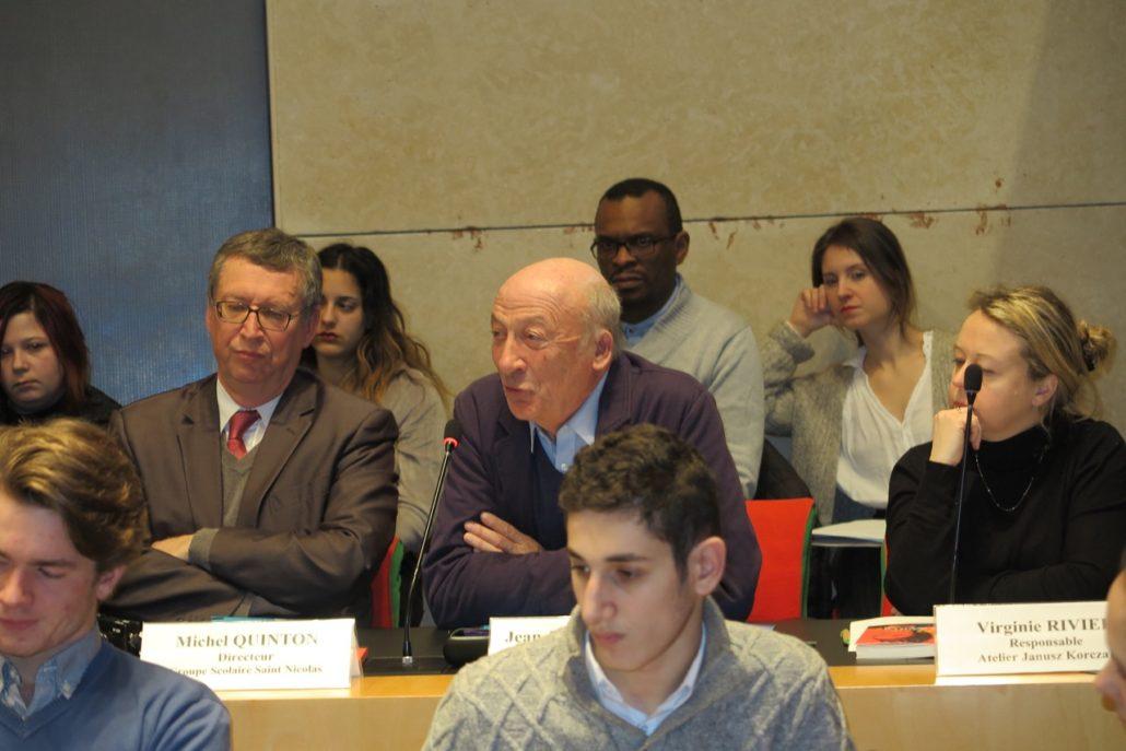 Michel Quinton, Jean-Pierre Fondère, Président du Foyer des jeunes travailleurs de la Plaine