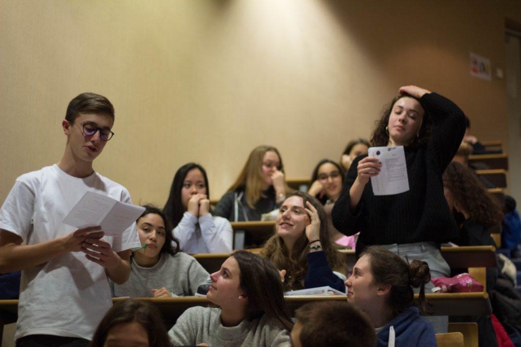 un après-midi en poésie au Lycée Charles Péguy à Orléans