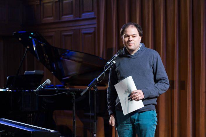 Matthias Vincenot, Président de Poésie et Chanson Sorbonne et Directeur artistique de Poésie en liberté