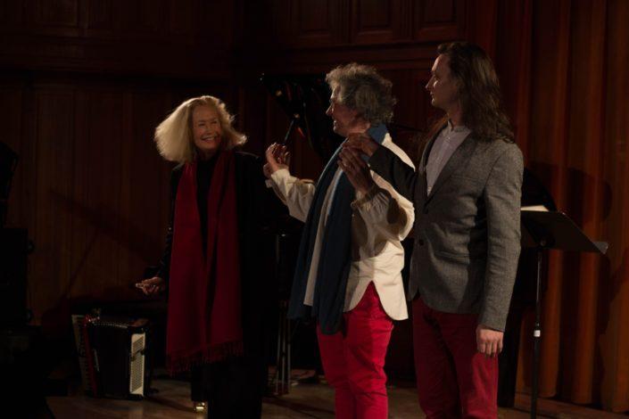 le salut final avec Brigitte Fossey, Pierre Fesquet et Etienne Champollion