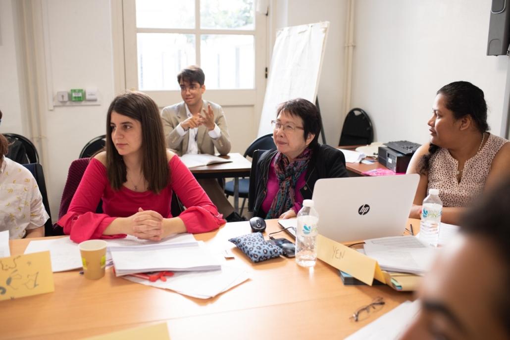 Carlos Santos - observateur, Hasna Redjal - jurée, Yen Kuan - Attachée de Direction et Itakava Motuhi - stagiaire