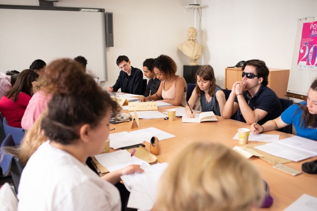 Délibérations au Ministère de l'Education nationale, Salle Jules Ferry