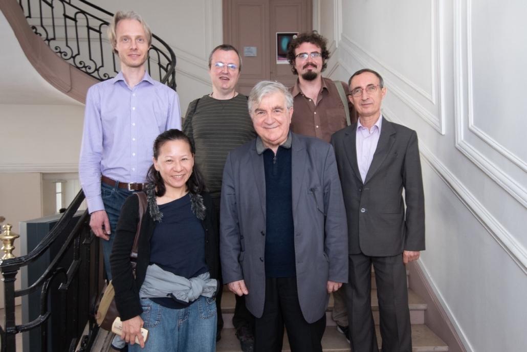 Jean-Marc Muller, Hsiu Chen Huang, Gilles Tabard, et les Espérantistes Jesper Jacobsen, Jorge Camacho Cordón et Nicola Ruggiero