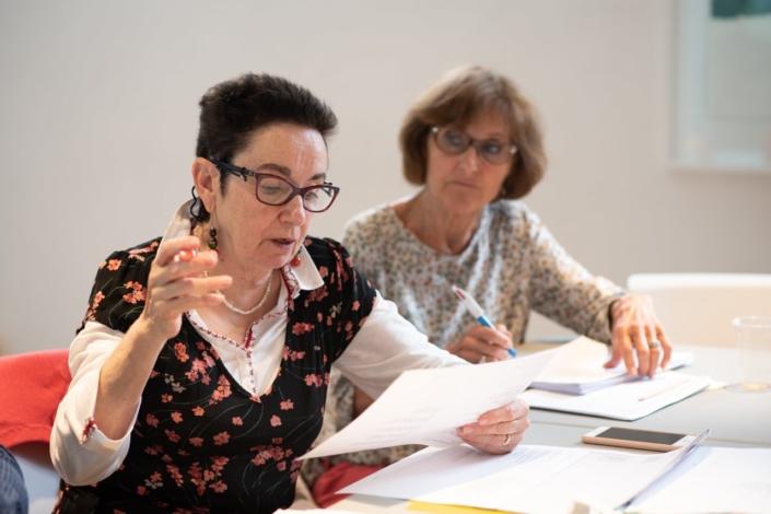 Nicole Simonet, Responsable du Jury, Vice-Présidenteassistée de Rose Séguignes, Secrétaire générale d'honneur,