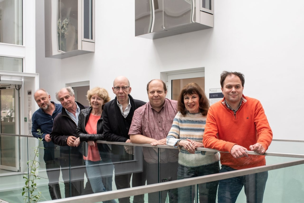 Les poètes Etienne Orsini, Sylvestre Clancier, Claudine Bohi, Francis Coffinet, Eric Sivry, Ira Feloukatzi et Matthias Vincenot