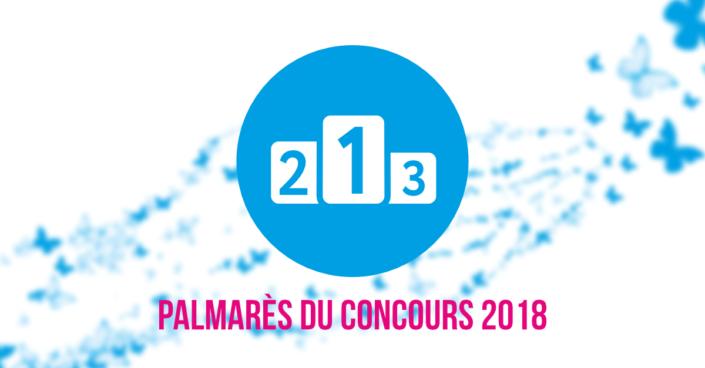 Palmarès du concours 2018Palmarès du concours 2018