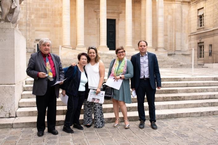 Jean-Marc Muller, Yen Kuan, Lynda Aït Bachir, Samira Tayeb-Cherif et Matthias Vincenot prêts pour accueillir les invités