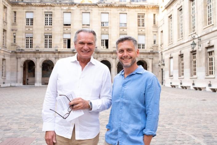 Les comédiens François-Eric Gendron et Frédéric Gorny