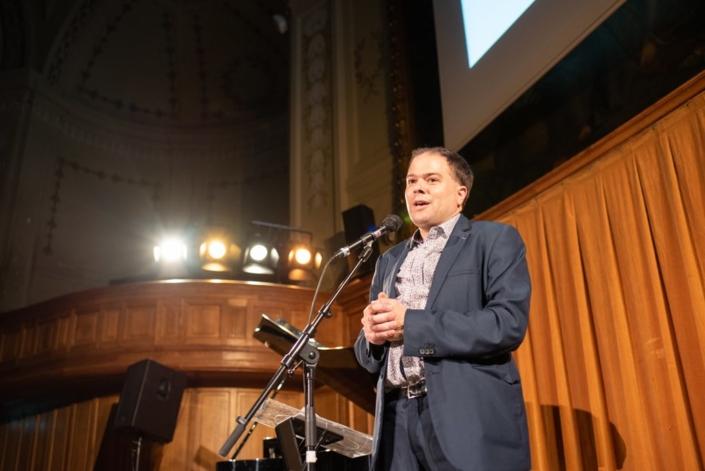 Matthias Vincenot, Docteur es-lettres, Chevalier des Arts et des Lettres, organisateur de la soirée