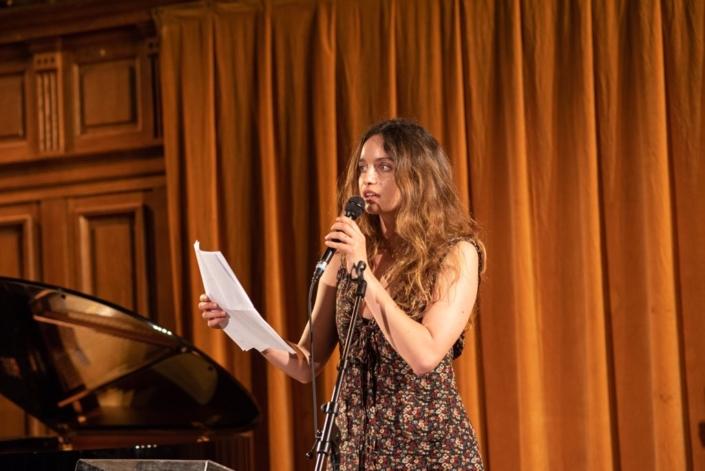La comédienne Clara Ponsot