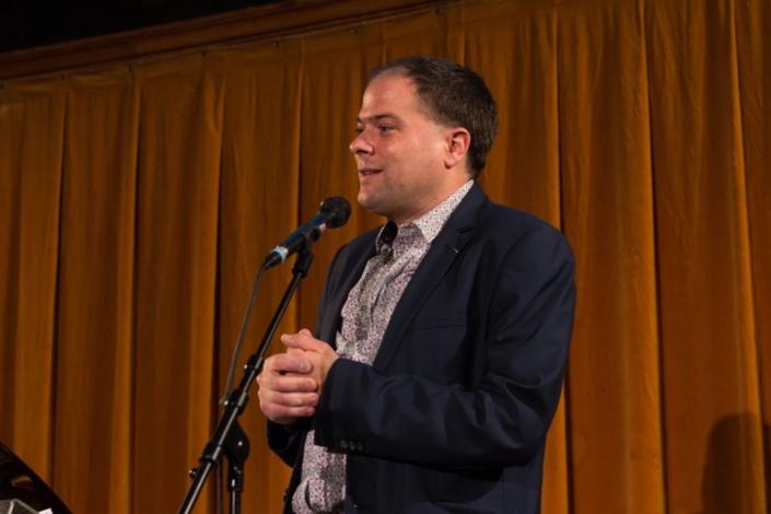 Matthias Vincenot, Docteur ès Lettres, Chevalier des Arts et des Lettres, directeur artistique de Poésie en liberté
