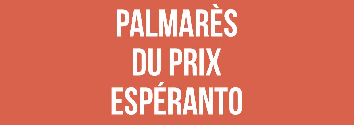 Palmarès Prix Espéranto 2018