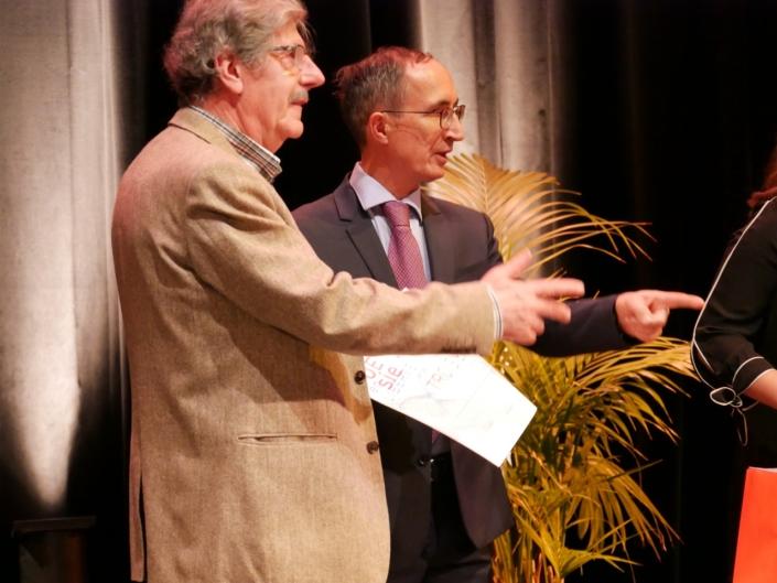 Bernard Menez, comédien et chanteur et Gilles Tabard