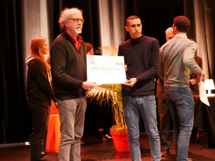 Pierre Kobel, partenaire, Editions Bruno Doucey et Tarik Mahtout, Université Mira-Abderrahmane de Béjaïa - Béjaïa (Algérie), Mention spéciale, étudiants de l'Etranger