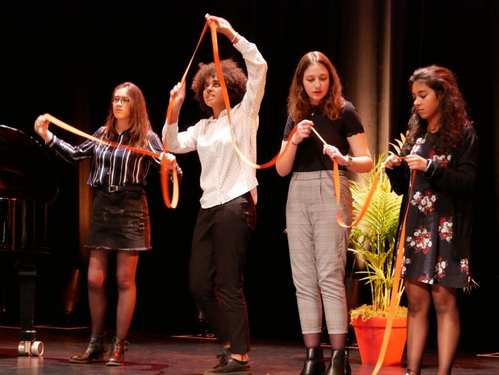 Chloé Benbekrite, Melinda Carniaux, Marion Demoniere, Alexandra Verron de l'Atelier Janusz Korczak
