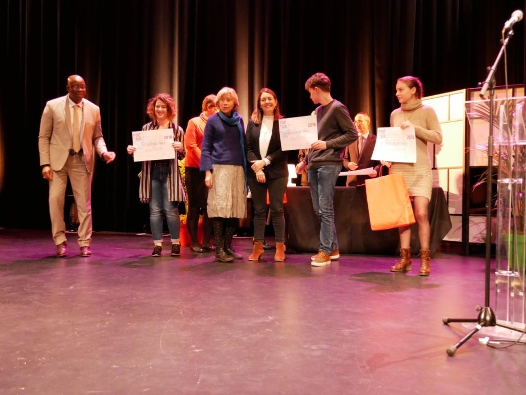 Gérard Anglio et Marine Laffort, 2ème prix, des Secondes, Elisabeth Jouhaud, Elisabeth Batier et Martin Goillot, 3ème prix des Secondes et Jeanne Guilment