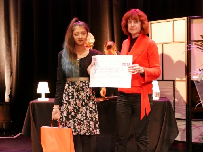Véronique Morin Besancenot, et Sarah Vingadassalom, Prix Projet Personnalisé de Scolarisation, niveau Secondes