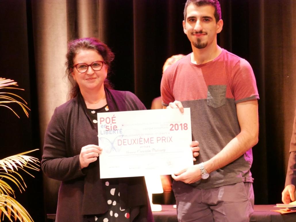 Claire Guichard, Maire-adjointe et Corentin Dufourg INSA - Rennes (35), 2ème prix, des Etudiants