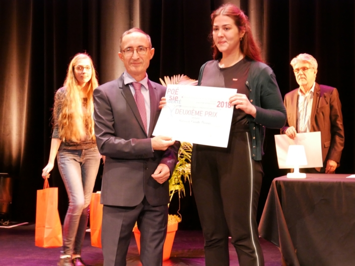 Gilles Tabard, Vice-Président et Camille Decroix,CFA Codis - Paris (75), 2ème prix des Apprentis en Première,