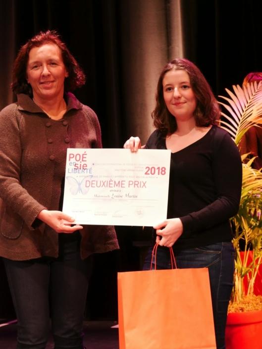 Carole Olympio, PDG de la start-up Blue Cloud et Louise Martin, Campus Montsouris - Paris (75), 2ème prix des apprentis en post-baccalauréat