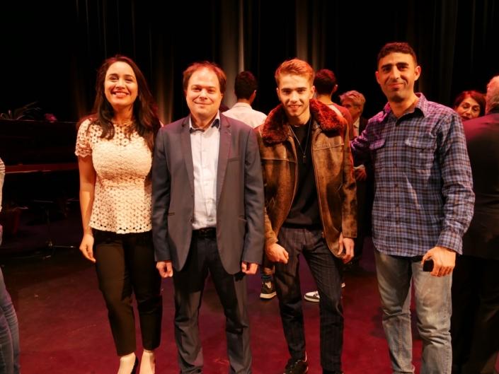 Ahlem Ben Massoud, Matthias Vincenot, Martin Tronchon et Hidher Dahmana