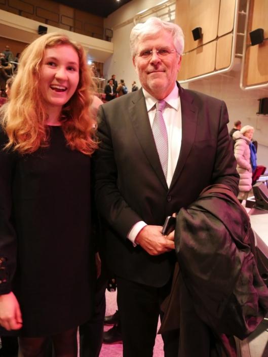 Daniela Sabová et Son Excellence Igor Slobodník, Ambassadeur de la République slovaque à Paris