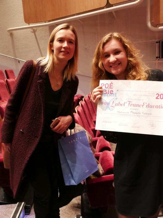 La lauréate Daniela Sabová et sa maman d'accueil, Laura Flane
