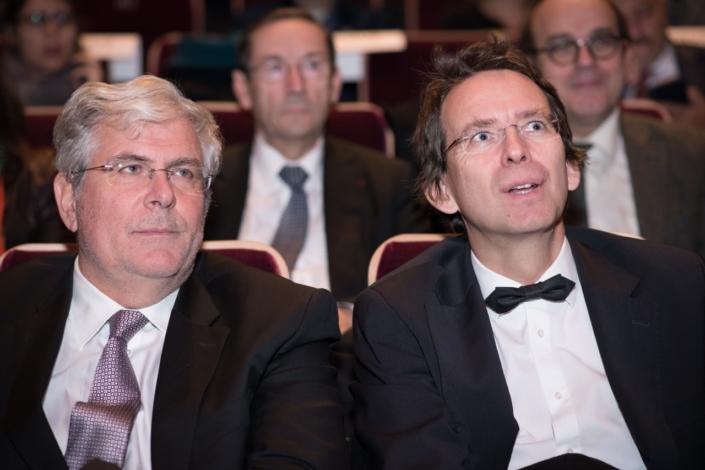 Son Excellence Igor Slobodník, Ambassadeur de la République slovaque à Paris et Son excellence Petr Drulak, Ambassadeur de la République tchèque