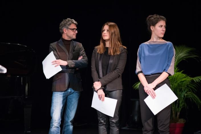 Les comédiens Frédéric Gorny, Séverine Ferrer, et Hanne Mathisen Haga